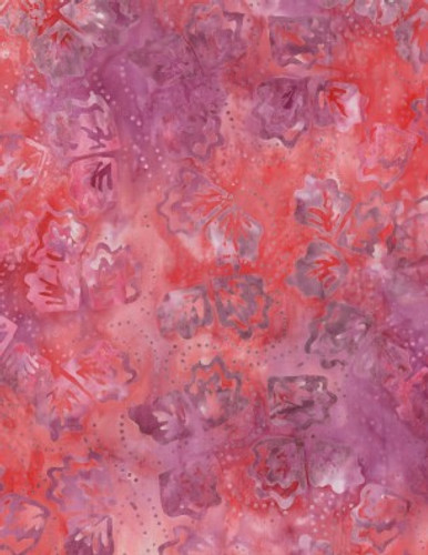Wilmington Batiks - Twirling Leaves Red