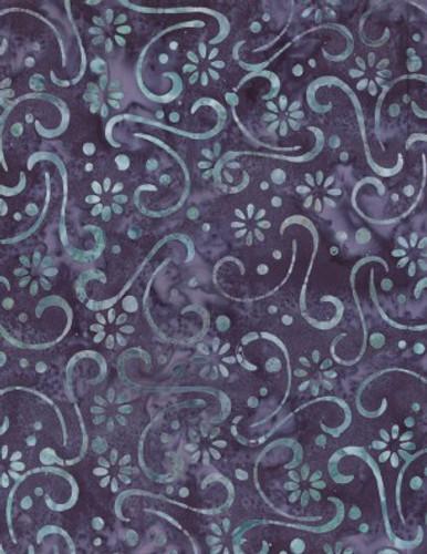 Wilmington Batiks - Floral Patchwork Purple/Blue
