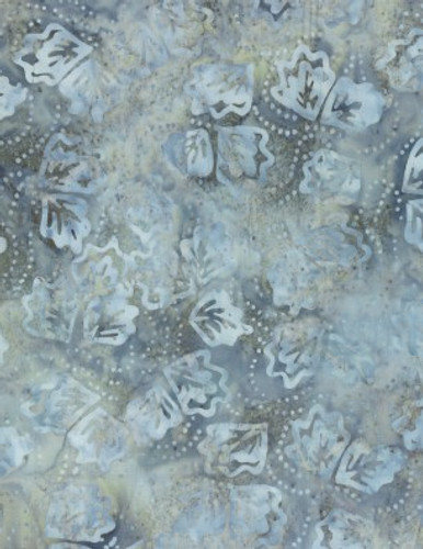 Wilmington Batiks - Twirling Leaves Light Grey