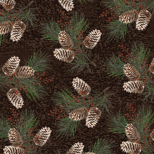 Rustic Charm Flannel - Pinecones