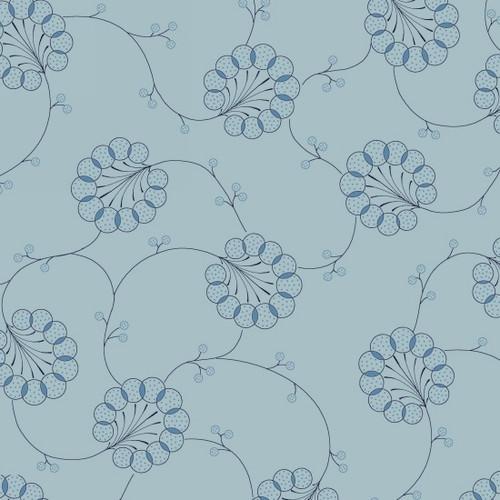 Indigo Cottage - Large Floral Blue