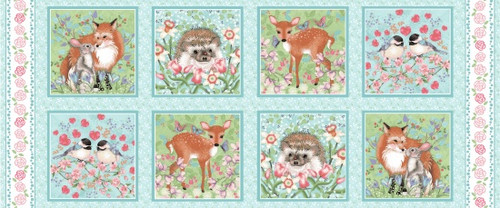 Forest Friends - Panel   .5 yard