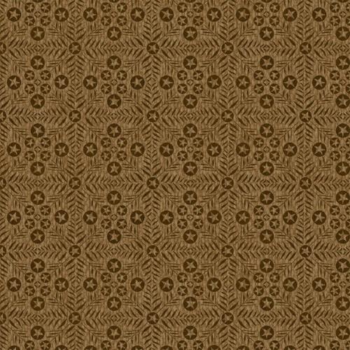 Itty Bitty - Squared Stars Brown