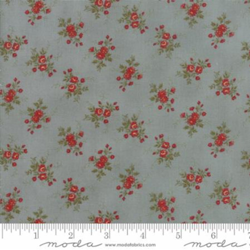 Rosewood - Tiny Tossed Floral Blue