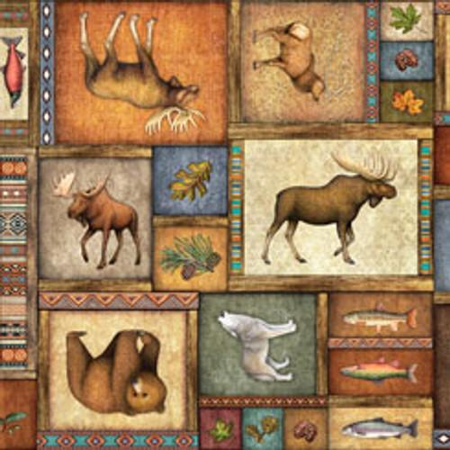Timberland Trail - Animal Collage Multi