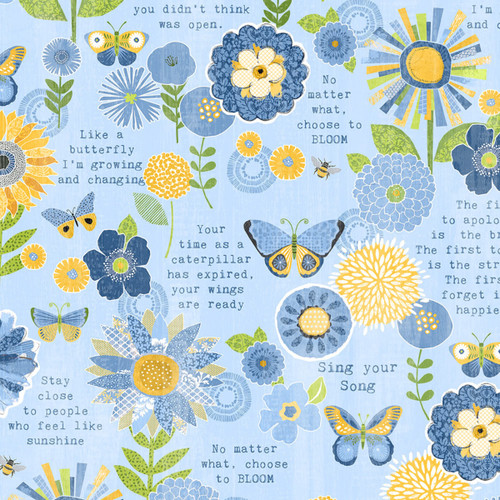 Sing Your Song - Flowers Sentiments Blue