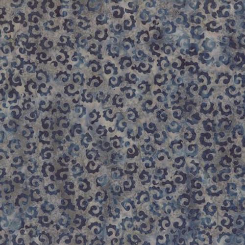 Wilmington Batik  - Blue and Gray Swirls