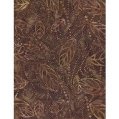 Wilmington Batiks - Brown  Leaf Print