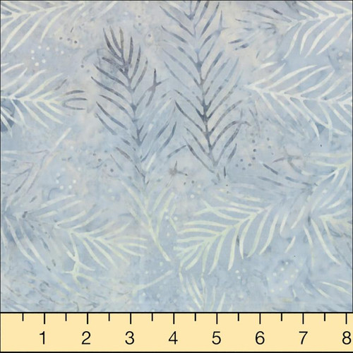 Wilmington Batiks - Light  Blue-Gray Sprigs