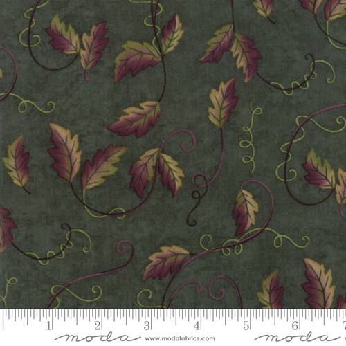 Fresh off the Vine Big Leaves Tossed Fabric by Holly Taylor