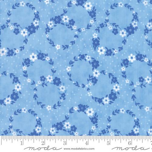 Flower Sacks - Floral Circles Blue