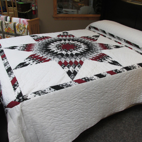 """Lone Star Quilt 96"""" by 109"""""""