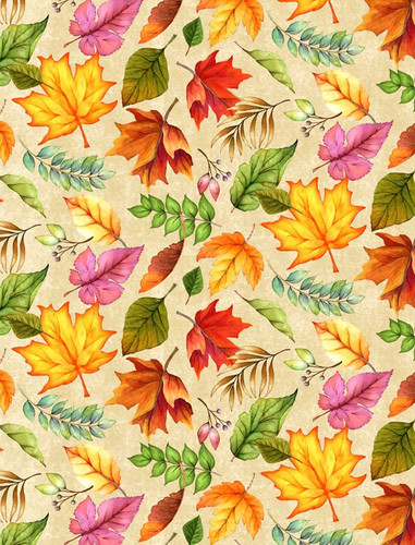 Happy Gatherings - Tossed Leaves Cream