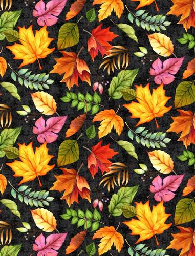 Happy Gatherings - Tossed Leaves Black