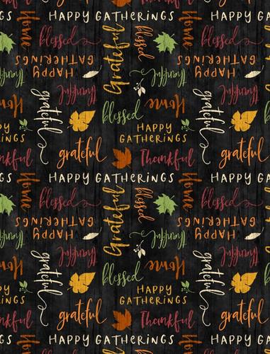 Happy Gatherings - Tossed Words Black