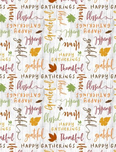 Happy Gatherings - Tossed Words Grey