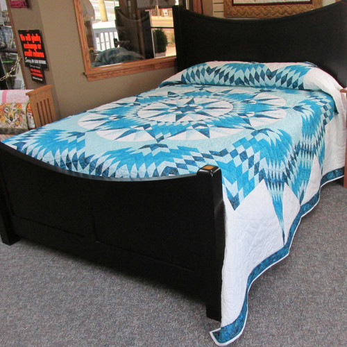 """Mariners Star Quilt - 110"""" by 110"""""""