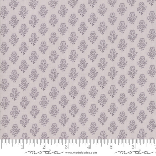 Grey Flowers on Light Grey Urban Farmhouse Fabric