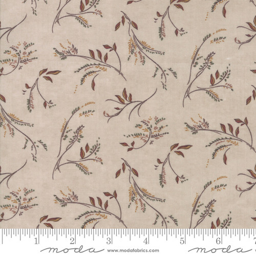Small Sprigs and Leaves on OatTan Country Charm Fabric