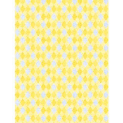 Wilmington Prints Madison Yellow and Gray Diamonds fabric