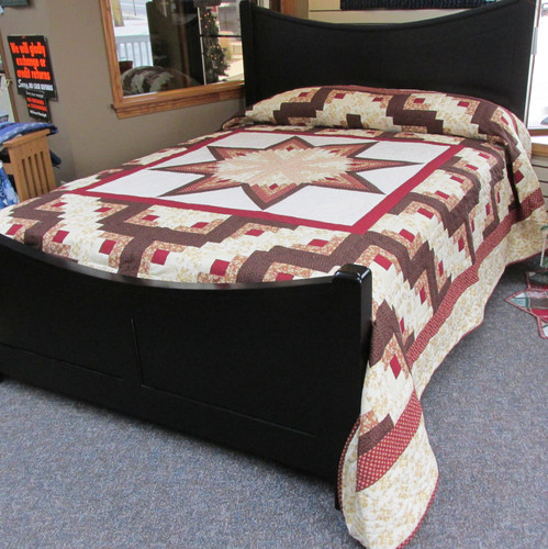 """Log Cabin Star Quilt - 104"""" by 119"""""""