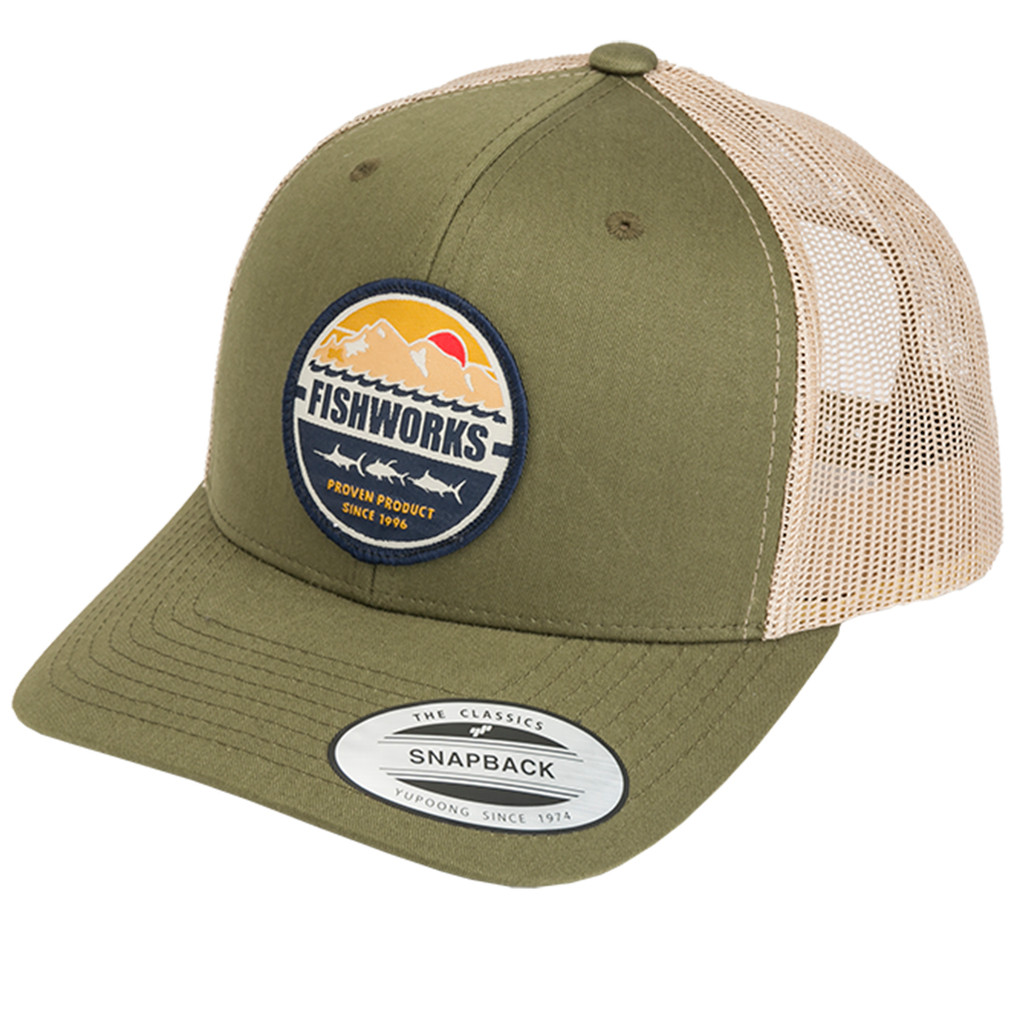 Lands End Snapback Two Tone - Moss & Khaki