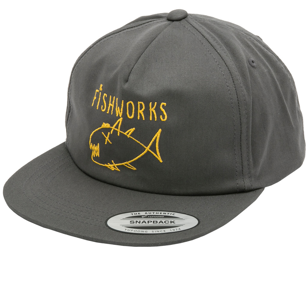 Flipper Snapback - Unstructured Charcoal