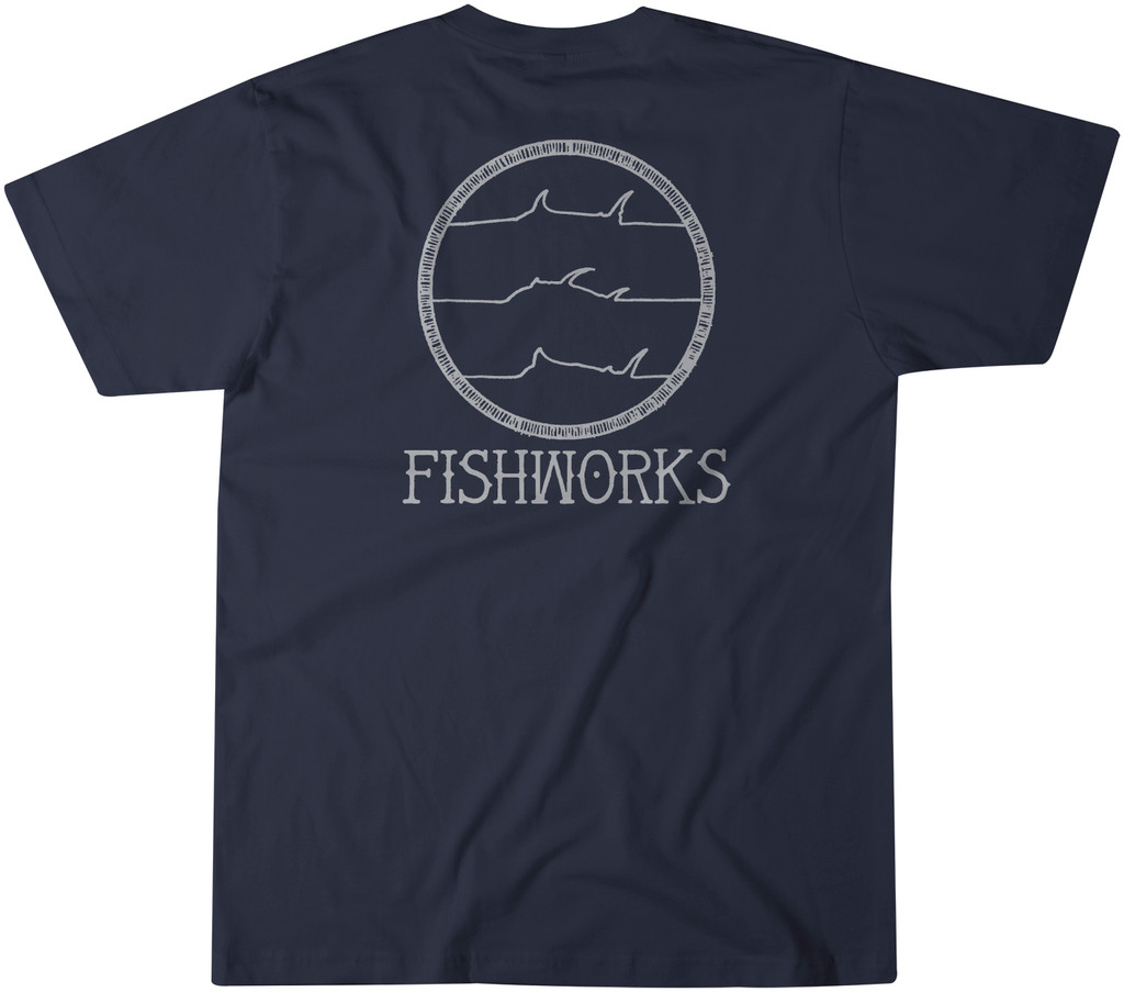 Hand Drawn Pocket Tee - Navy