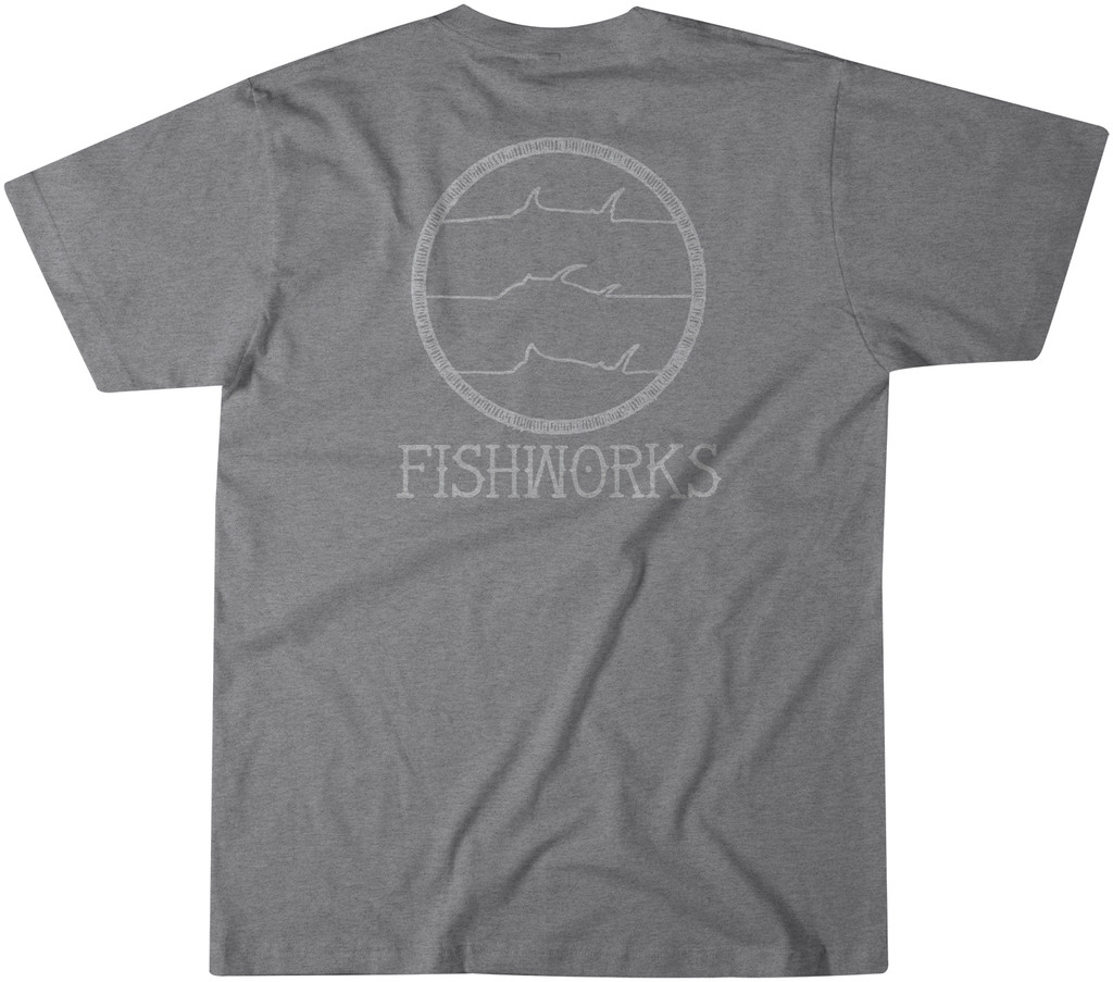 Hand Drawn Pocket Tee - Medium Grey Heather