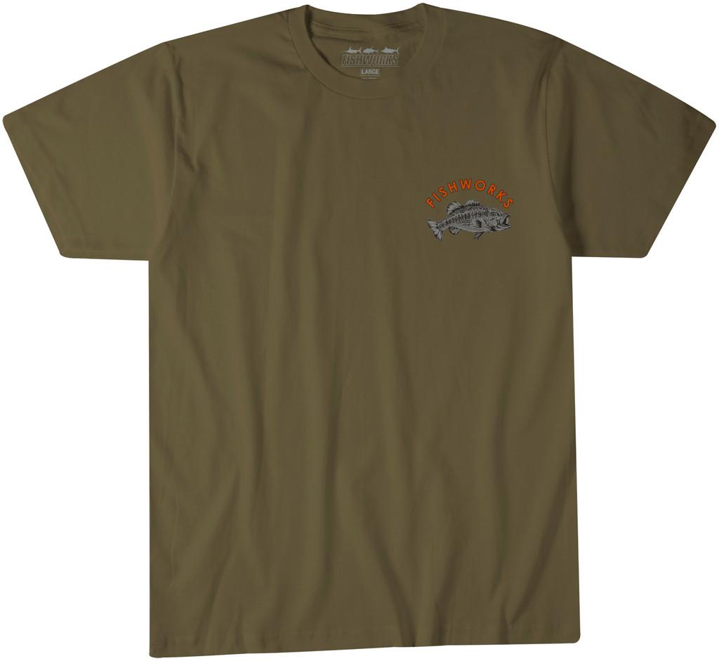 Camo Bass Tee - Military Green