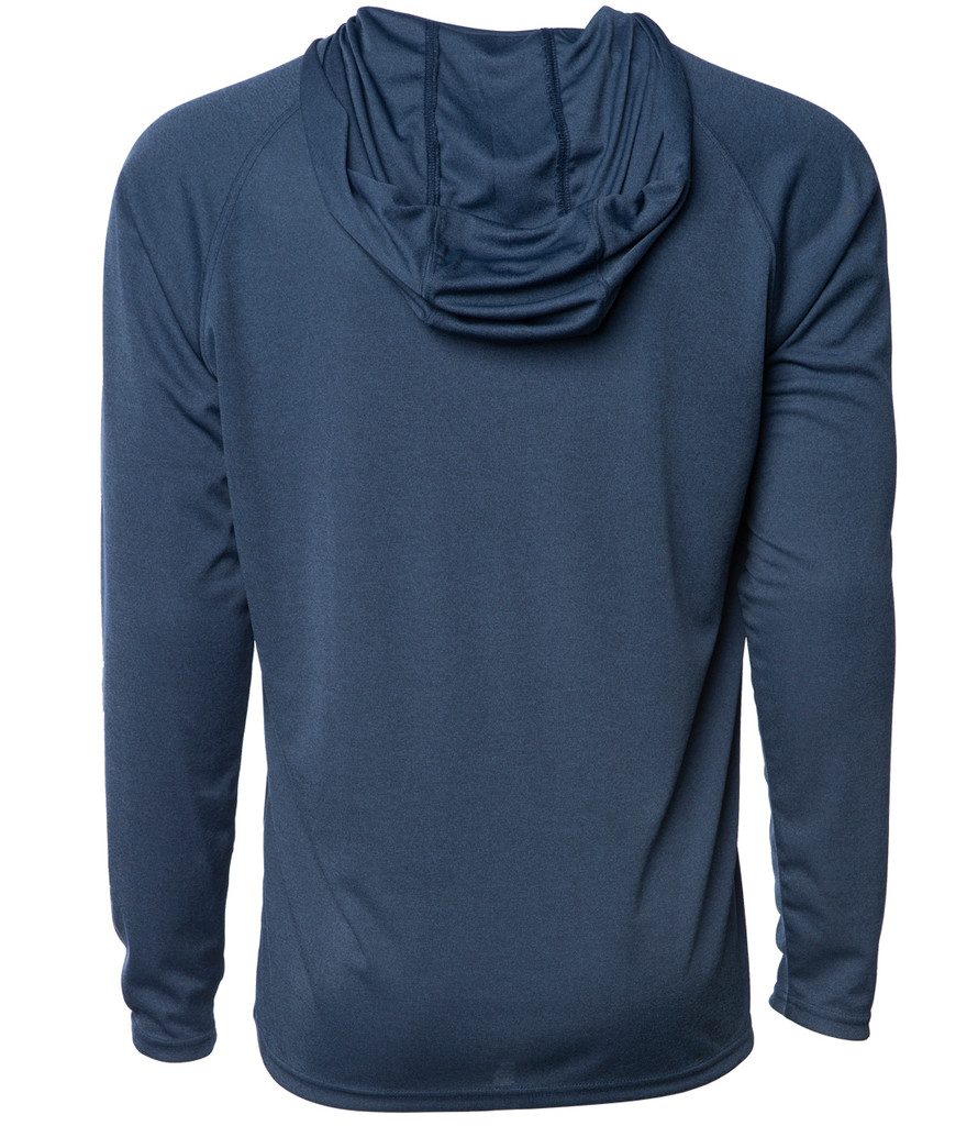 Horizon Long Sleeve Hooded Sunshirt - Navy Heather
