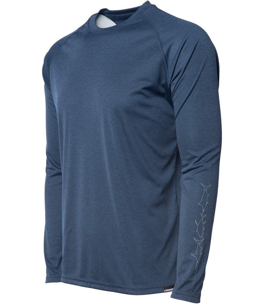 Horizon Long Sleeve Sunshirt - Navy Heather