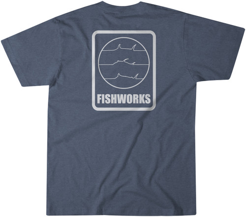 Fine Lines Tee - Navy Heather