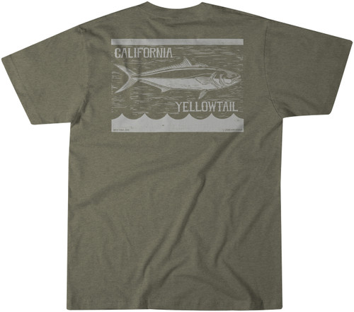 BT Yellowtail Tee - Olive Heather