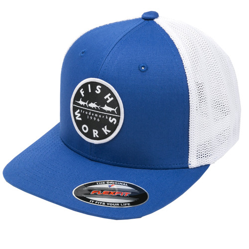 Original FlexFit Trucker - Royal & White Mesh