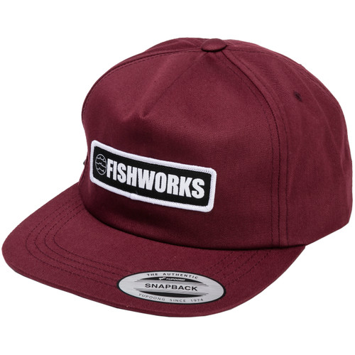 Stretch Snapback - Unstructured Maroon