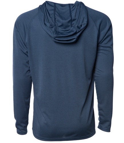 Horizon Long Sleeve Hooded Sunshirt - Navy Heather