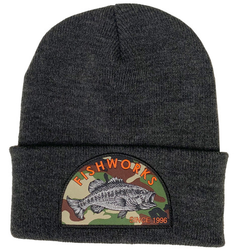 Camo Bass Beanie - Dark Heather