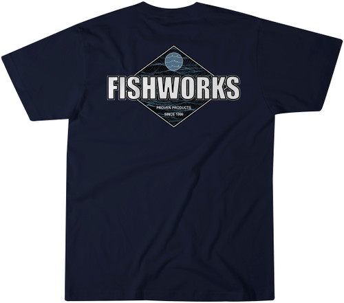 Waves Tee - Navy