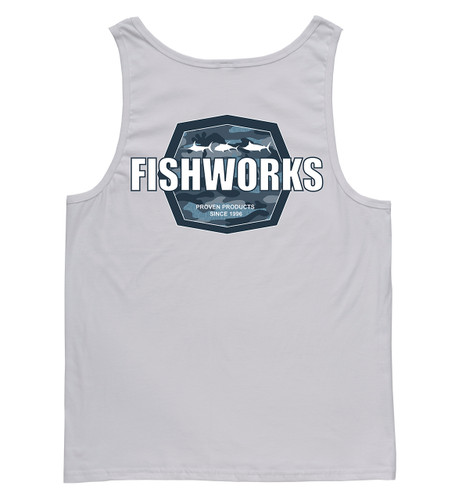 Camo Badge Tank - White