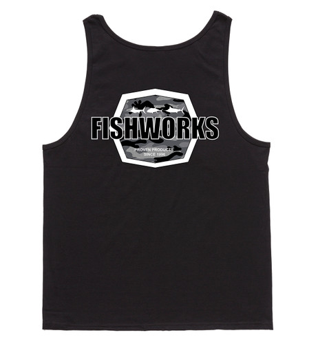 Camo Badge Tank - Black