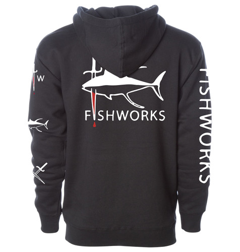 Seared Tuna Hooded Fleece - Black