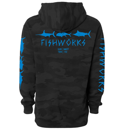 Sketchy Hooded Fleece - Black Camo