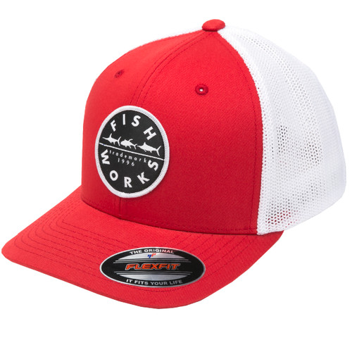 Original FlexFit Trucker - Red & White Mesh