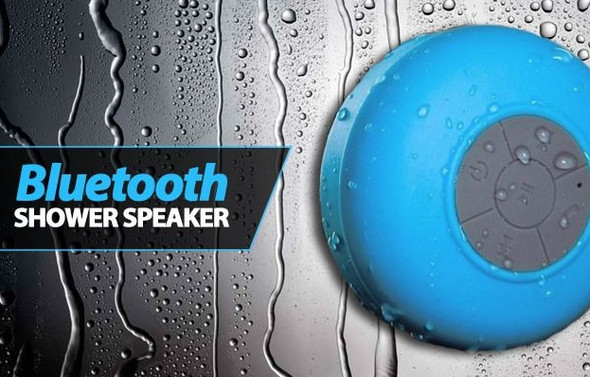 Shower Portable Bluetooth Speaker - Water Resistant includes Suction Cup Holder