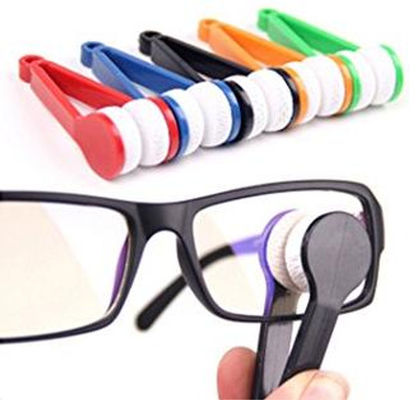 Mini Portable Glasses Eyeglass Sunglasses Spectacles Microfiber Cleaner Brushes