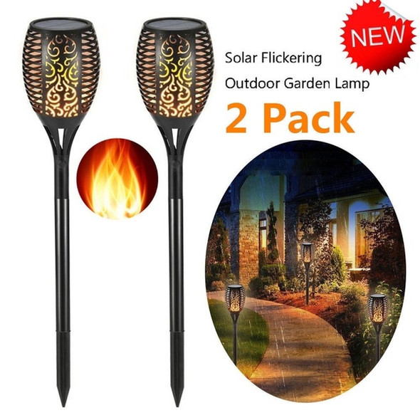 LED Waterproof Flickering Flame Solar Torch Light Garden Lamp Outdoor