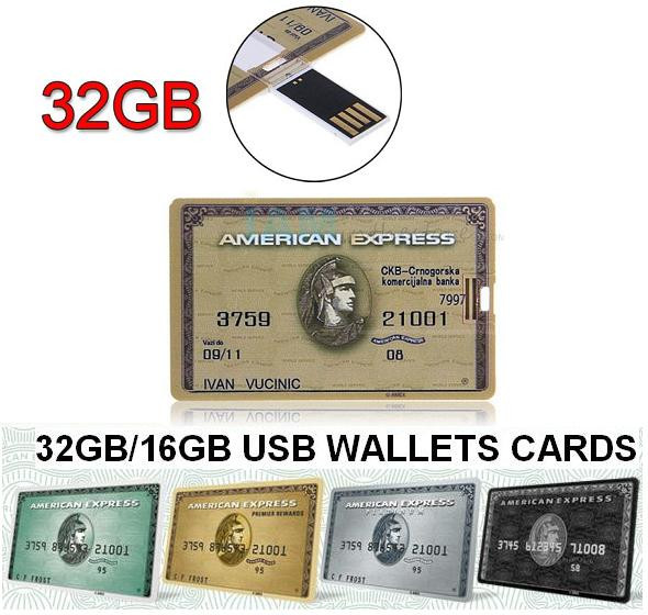 8GB USB Wallet Cards