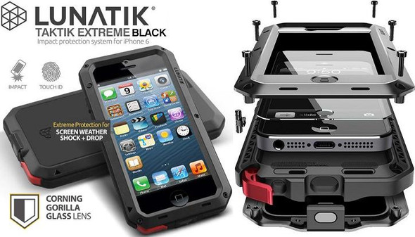 iPhone (All models) Lunatik Taktik Extreme Protection Case with Gorilla Glass