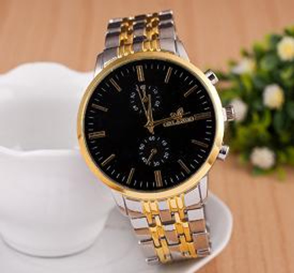 Geneva Black Dial for Men